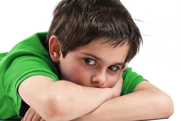 Junge mit verängstigtem blick Premium Fotos