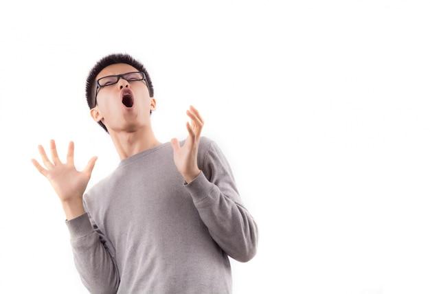 Junge panik gesichts angst ein Kostenlose Fotos