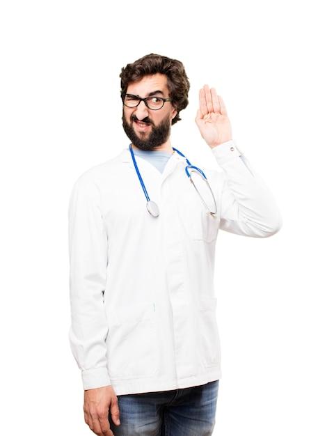Junger doktor mann zuhören Kostenlose Fotos