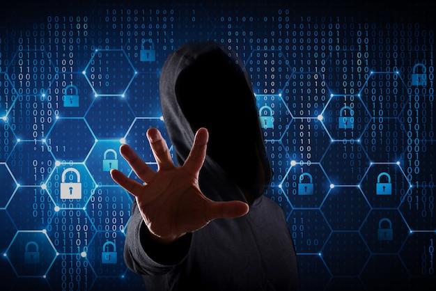 Junger hacker im datensicherheitskonzept Premium Fotos