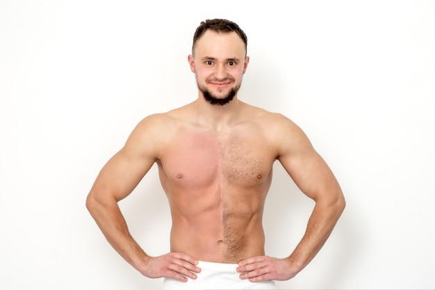 Brust mann haare auf der Brusthaare beim