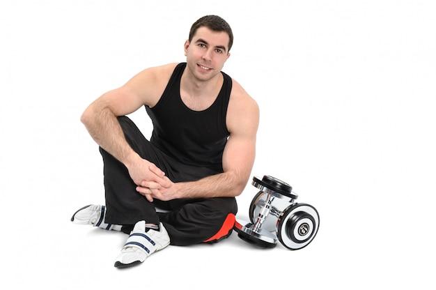 Junger mann, der mit dummkopf aufwirft Premium Fotos