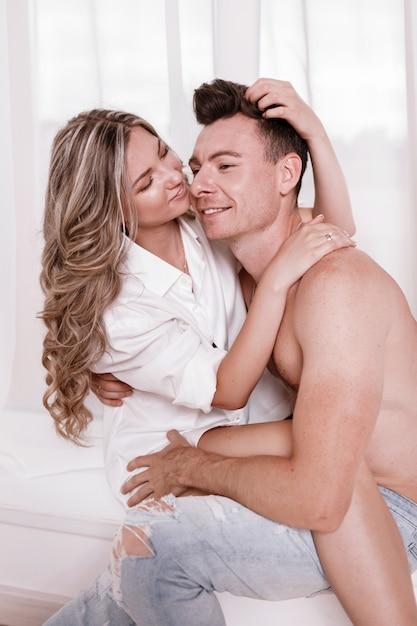 Geiles Paar Hat Spaß Im Bett