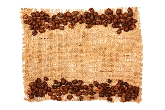 Kaffee und sackleinen Premium Fotos