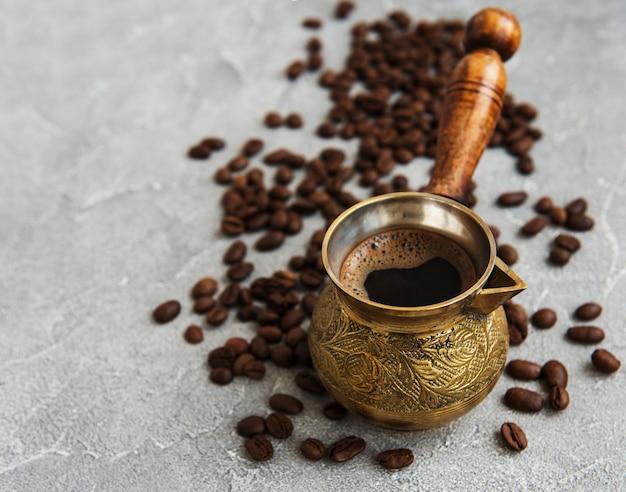Kaffeebohnen und türken Premium Fotos