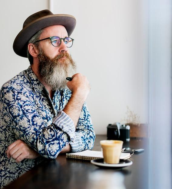 Kaffeepause-erholungs-entspannungs-konzept Premium Fotos