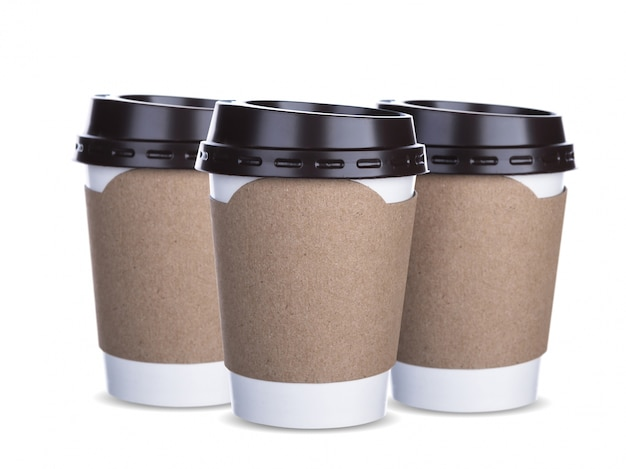 Kaffeetassen mit pappe griff Kostenlose Fotos