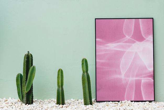 Kaktus und fotorahmen Kostenlose Fotos