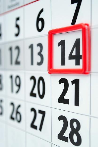 Kalender mit marker Premium Fotos