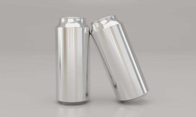 Kalte getränke in metalldosen latas Premium Fotos