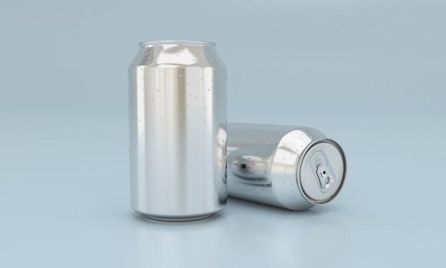 Kalte getränke in metalldosen Premium Fotos
