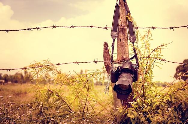 Kamera hängende zaun natur greens Kostenlose Fotos