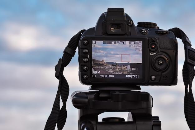 Kamera macht einen schuss Premium Fotos