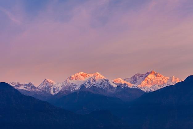 Kangchenjunga bergblick Premium Fotos