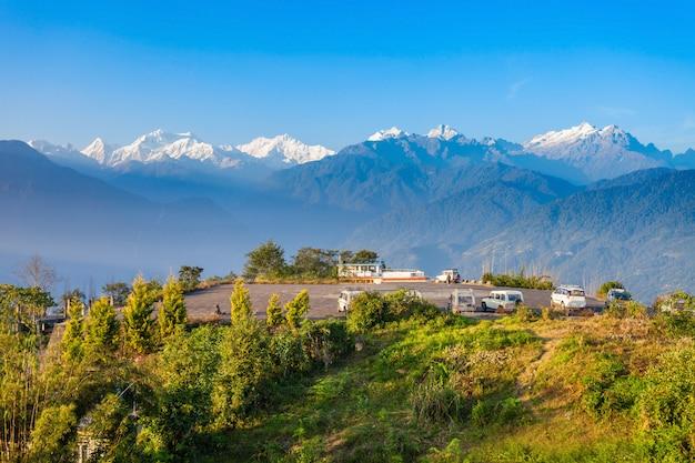 Kangchenjunga-standpunkt, pelling Premium Fotos