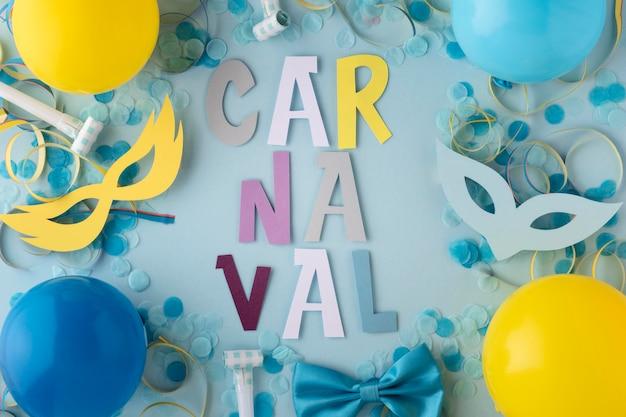 Karneval niedlichen masken und luftballons Kostenlose Fotos