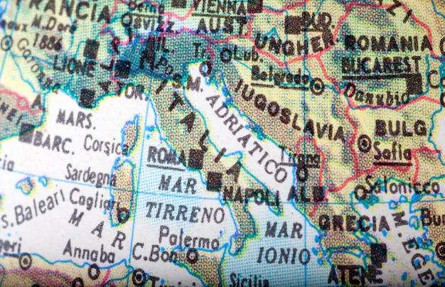 Karte italien Premium Fotos