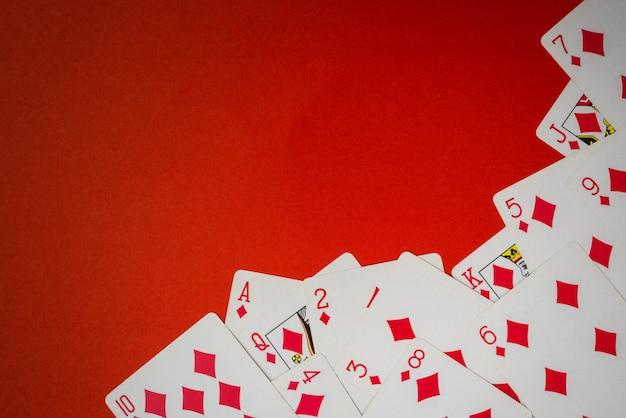 Kartenspiel als ecke Premium Fotos