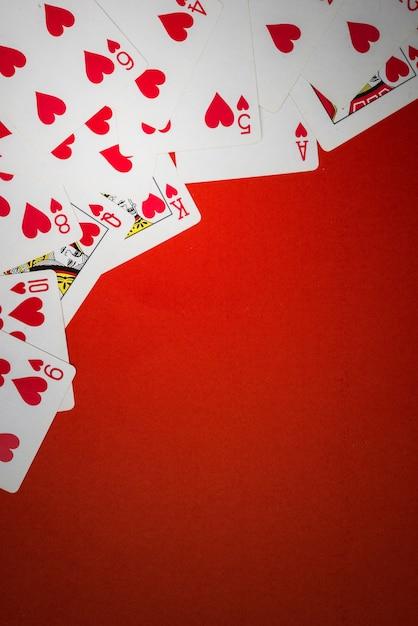 Kartenstapel benutzt als ecke Premium Fotos