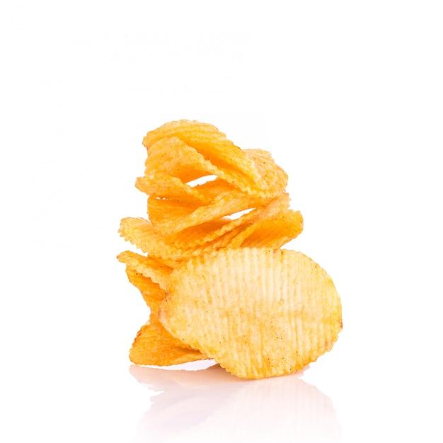 Kartoffelchips. Premium Fotos