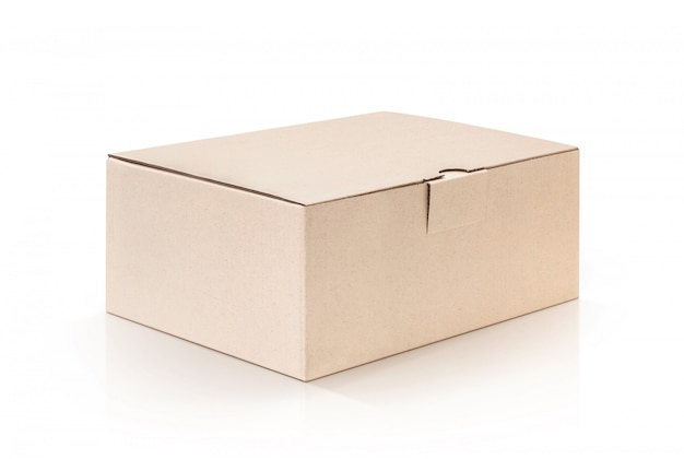 Karton kraft box isoliert Premium Fotos
