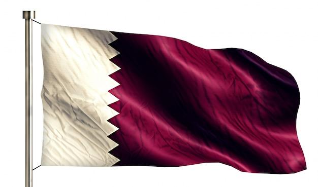 Katar nationalflagge isoliert 3d weißen hintergrund Kostenlose Fotos