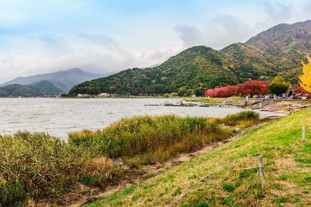 Kawaguchi-see (kawaguchiko) Premium Fotos