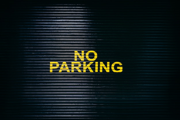 Kein parkschild Premium Fotos