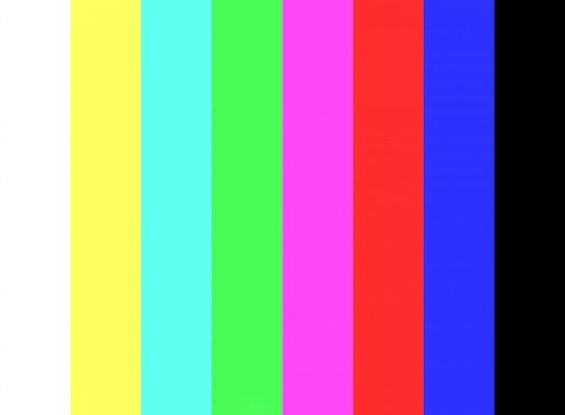 Kein signal- und farbbalkentest auf dem fernsehbildschirmhintergrund. Premium Fotos