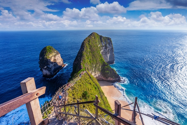 Kelingking beach in der insel nusa penida, bali, indonesien Kostenlose Fotos