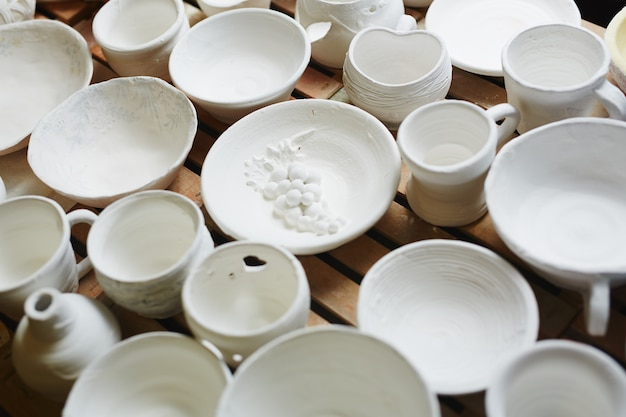 Keramik auf weiß Kostenlose Fotos