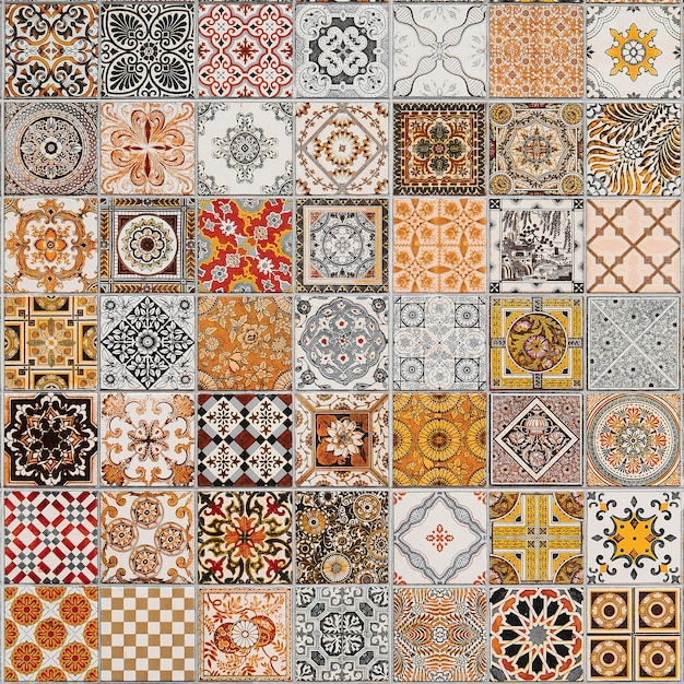 Keramikfliesen muster aus portugal. Premium Fotos