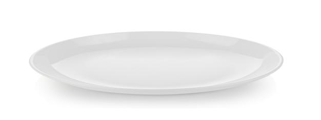 Keramikplatte isoliert auf weiß Premium Fotos