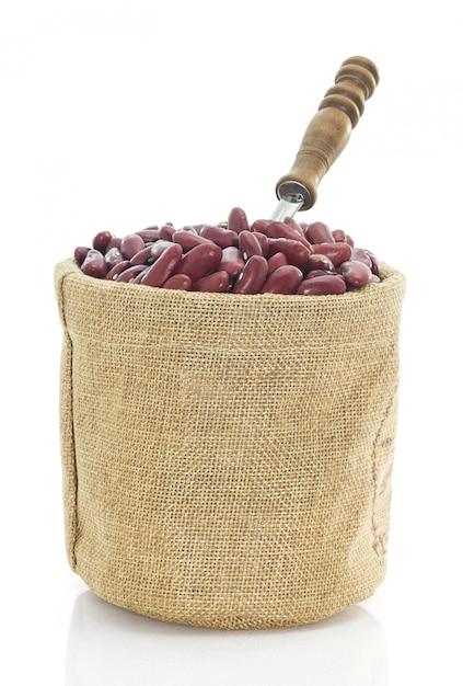 Kidneybohnen im großen sack Premium Fotos