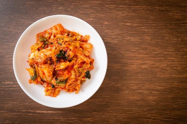 Kimchi kohl auf teller Premium Fotos