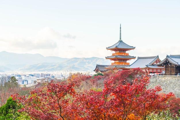Kiyomizu oder kiyomizu-deratempel in der autum jahreszeit in kyoto. Premium Fotos