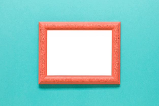 Klarer orangefarbener fotorahmen Kostenlose Fotos