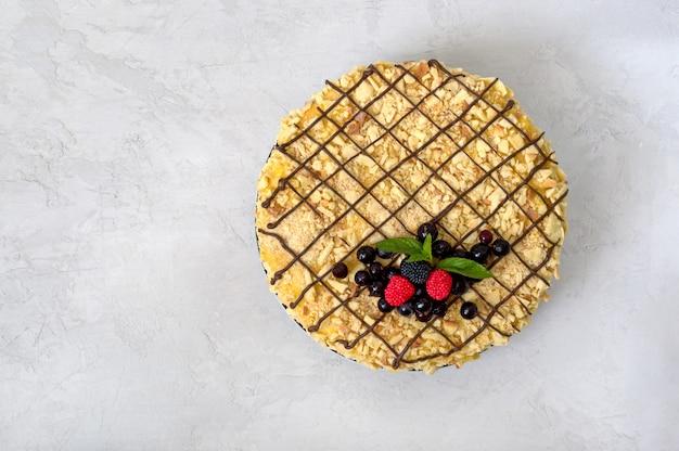 Klassischer napoleon-kuchen Premium Fotos