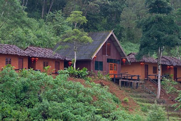 Kleine hütte in mae hong son teeplantage Premium Fotos