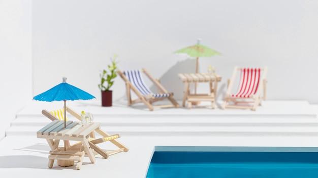 Kleine pool stillleben arrangement Kostenlose Fotos