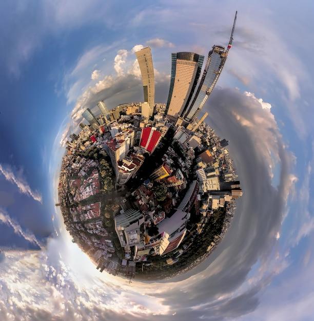 Kleiner welteffekt - mexiko city Premium Fotos