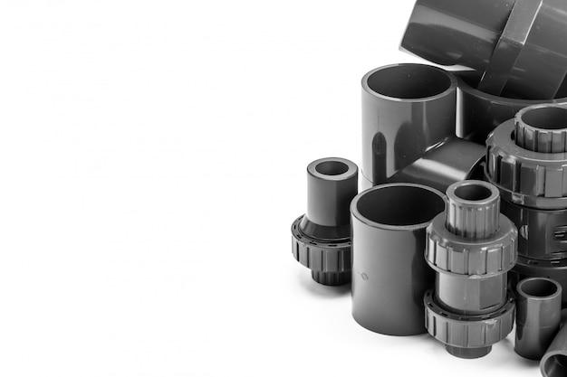Klempnergefäß für das wasser getrennt auf weiß Premium Fotos