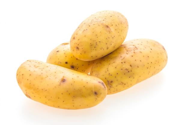 Köstliche kartoffeln auf weißem hintergrund Kostenlose Fotos