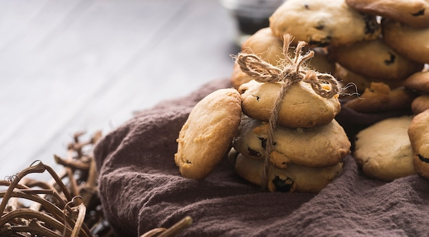 Köstliche schokoladenplätzchen der nahaufnahme Kostenlose Fotos