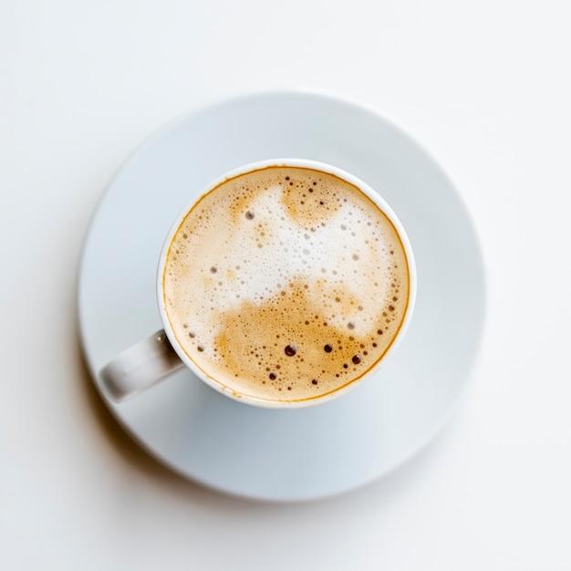 Köstlicher draufsichtkaffee mit sahne Kostenlose Fotos