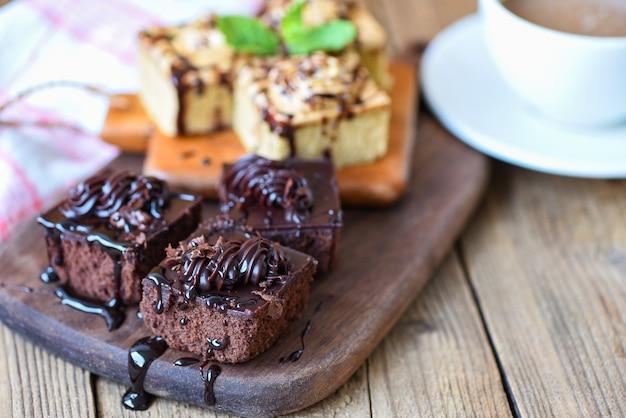 Köstlicher schokoladenkuchen Premium Fotos
