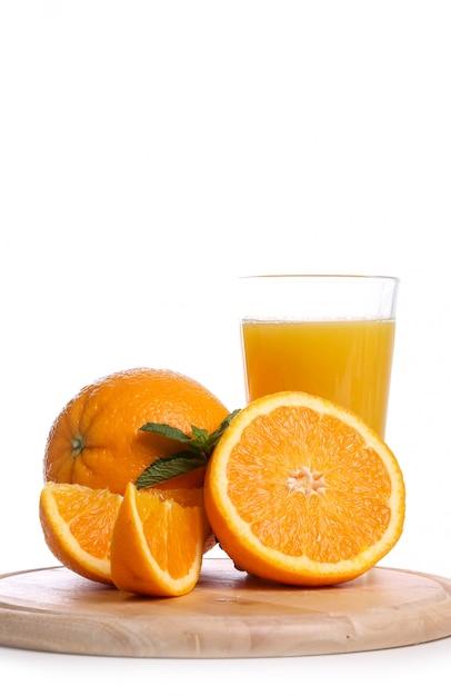 Köstliches glas orangensaft Kostenlose Fotos