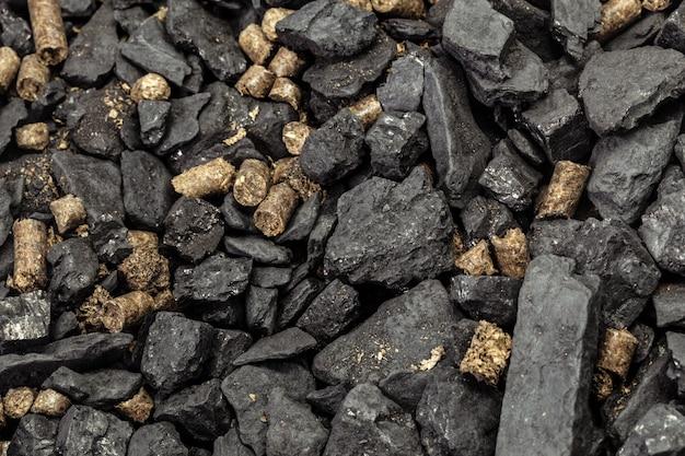 Kohle- und biomassepellet Premium Fotos