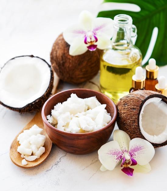 Kokosnuss natürliche spa zutaten Premium Fotos
