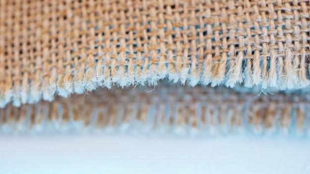 Konzept der fasern des sackleinenmaterials Kostenlose Fotos